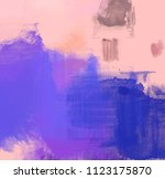 abstract painting on canvas.... | Shutterstock . vector #1123175870