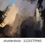 abstract painting on canvas.... | Shutterstock . vector #1123175960