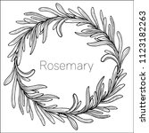 rosemary hand drawn wreath... | Shutterstock .eps vector #1123182263