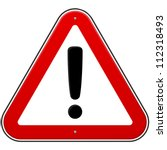 red exclamation sign   danger... | Shutterstock .eps vector #112318493