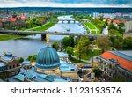 the amazing city of dresden in... | Shutterstock . vector #1123193576