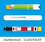 uk adrenaline autoinjectors   Shutterstock .eps vector #1123193639