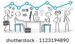 vector illustration of business ... | Shutterstock .eps vector #1123194890