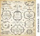 vector set of calligraphic... | Shutterstock .eps vector #112319813