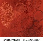 abstract painting on canvas.... | Shutterstock . vector #1123200800