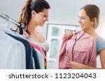 cute young teen girlfriends... | Shutterstock . vector #1123204043