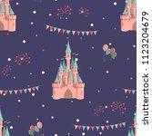 amusement park seamless pattern ... | Shutterstock .eps vector #1123204679