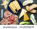 cold appetizer. cold cuts....   Shutterstock . vector #1123205879