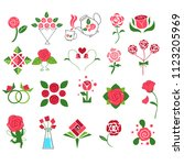 Stock vector the rose collection inspire by red roses and pink roses and create easy form this collection use 1123205969