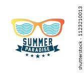 summer holidays design elements.... | Shutterstock .eps vector #1123210013