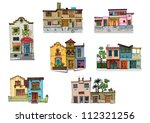 mexico city facades   cartoon   ... | Shutterstock .eps vector #112321256