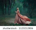 a mysterious blonde girl in a... | Shutterstock . vector #1123212806