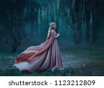 a mysterious blonde girl in a... | Shutterstock . vector #1123212809