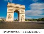 arch of triumph. paris  france   Shutterstock . vector #1123213073
