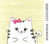 cute vector hand drawn... | Shutterstock .eps vector #1123213850