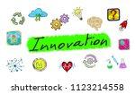 illustration of an innovation... | Shutterstock . vector #1123214558