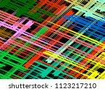 oblique  diagonal lines pattern. | Shutterstock .eps vector #1123217210