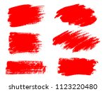 vector red paint  ink brush... | Shutterstock .eps vector #1123220480