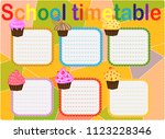 school timetable  a weekly... | Shutterstock .eps vector #1123228346