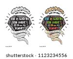 coloring page and colored... | Shutterstock .eps vector #1123234556