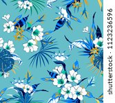 beautiful summer tropical mood...   Shutterstock .eps vector #1123236596