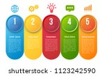 infographics with 5 steps or... | Shutterstock .eps vector #1123242590