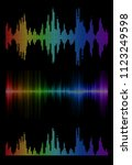 disco rainbow colored set of... | Shutterstock .eps vector #1123249598