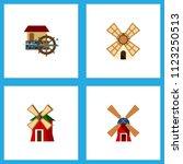 icon flat alternative set of... | Shutterstock .eps vector #1123250513