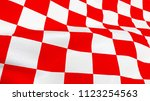 close up of croatian red and... | Shutterstock . vector #1123254563