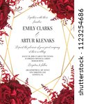 wedding floral invite ... | Shutterstock .eps vector #1123254686