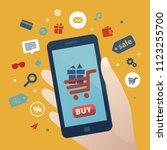online shopping vector template | Shutterstock .eps vector #1123255700