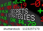 secrets and strategies stock... | Shutterstock . vector #1123257173