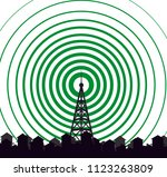 tower transmitter icon | Shutterstock .eps vector #1123263809