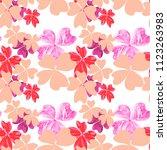 marble textured flowers in...   Shutterstock . vector #1123263983