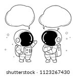 astronaut hand drawn | Shutterstock .eps vector #1123267430