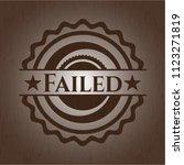 failed realistic wood emblem | Shutterstock .eps vector #1123271819