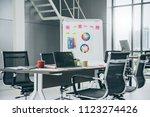 nice creativity office space... | Shutterstock . vector #1123274426