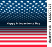 usa independence day 4 july.... | Shutterstock .eps vector #1123277126