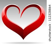 heart shape vector object | Shutterstock .eps vector #112328864