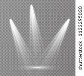 vector light sources  concert... | Shutterstock .eps vector #1123295030