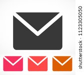vector icon mail 10 eps | Shutterstock .eps vector #1123305050