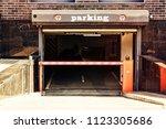 underground parking in the...   Shutterstock . vector #1123305686
