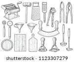 kitchen equipment  utensil ... | Shutterstock .eps vector #1123307279