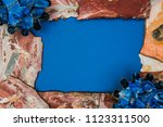 frame made of red marble and... | Shutterstock . vector #1123311500