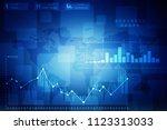 2d rendering stock market... | Shutterstock . vector #1123313033
