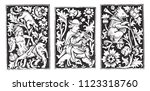 ornaments of the books of hours ... | Shutterstock .eps vector #1123318760