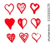 hand drawn heart icon design | Shutterstock .eps vector #1123320170