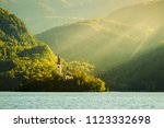 bled with lake  island  castle... | Shutterstock . vector #1123332698