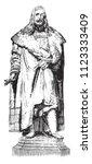 bronze statue of albrecht durer ... | Shutterstock .eps vector #1123333409