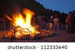 image of a large campfire ... | Shutterstock . vector #112333640